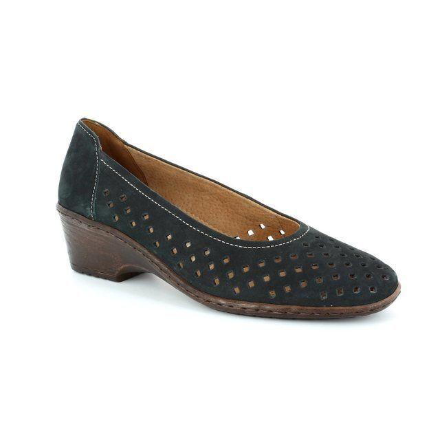 Ara 2251181-08 Navy lacing shoes