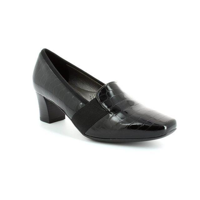 Ara Veronitab 1241781-01 Black croc heeled shoes