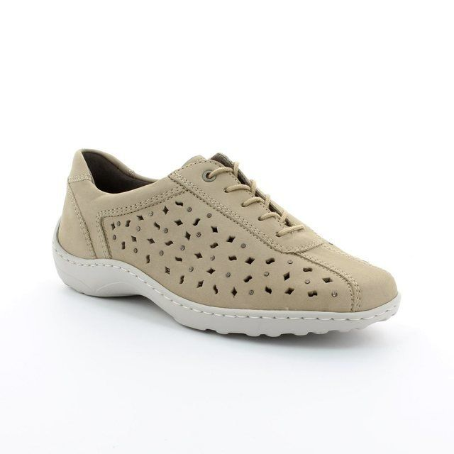 Ara Parmel 2251048-07 Beige nubuck lacing shoes