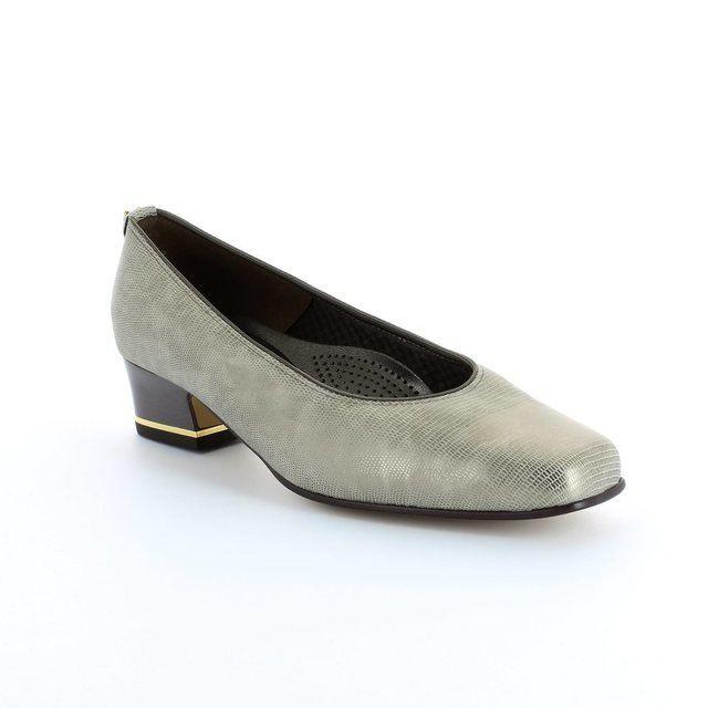 Ara Heeled Shoes - Pewter snake - 1221859/46 GRACO