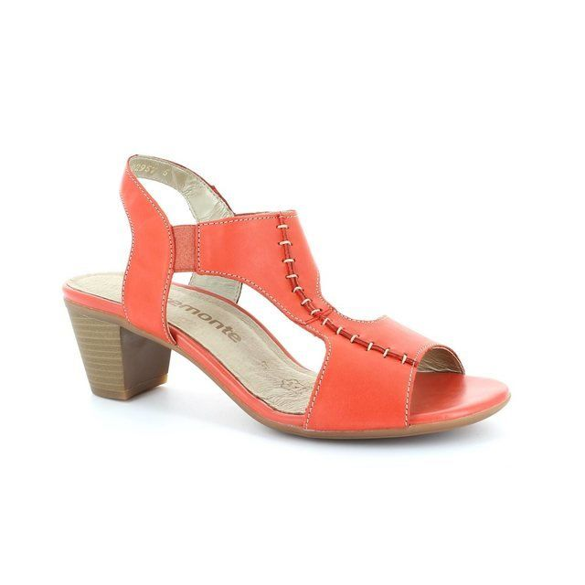 Remonte R9252-33 Coral pink heeled shoes
