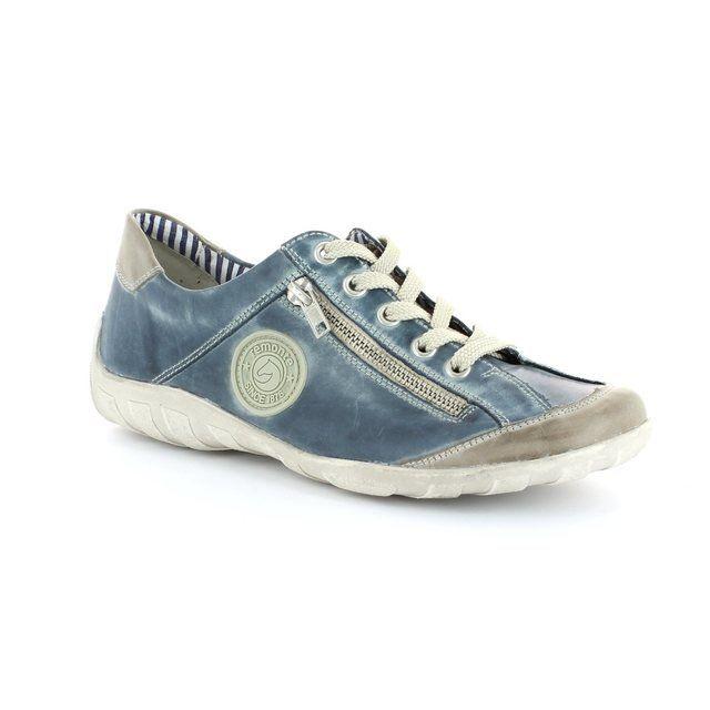 Remonte Livzip R3408-15 Denim blue lacing shoes