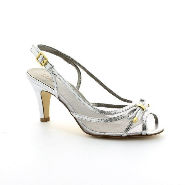Lotus Edna Silver high-heeled shoes