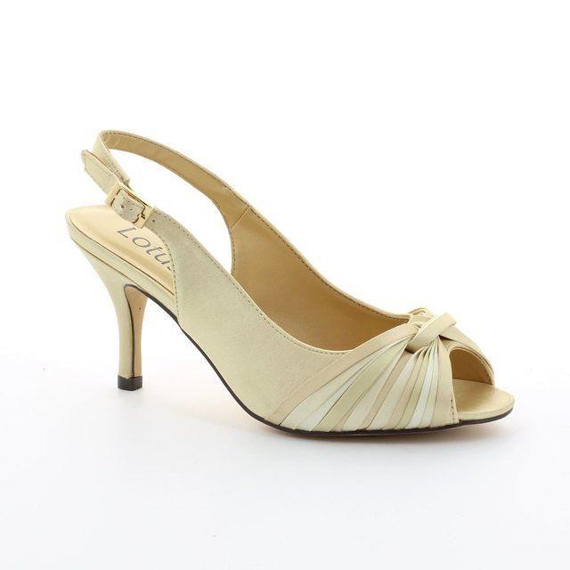 Lotus Janice Beige multi high-heeled shoes