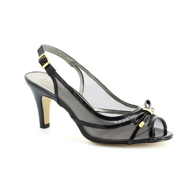 Lotus Edna Black patent high-heeled shoes