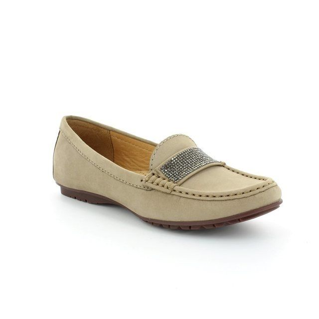 Ambition Antonia 25693-35 Taupe nubuck loafers