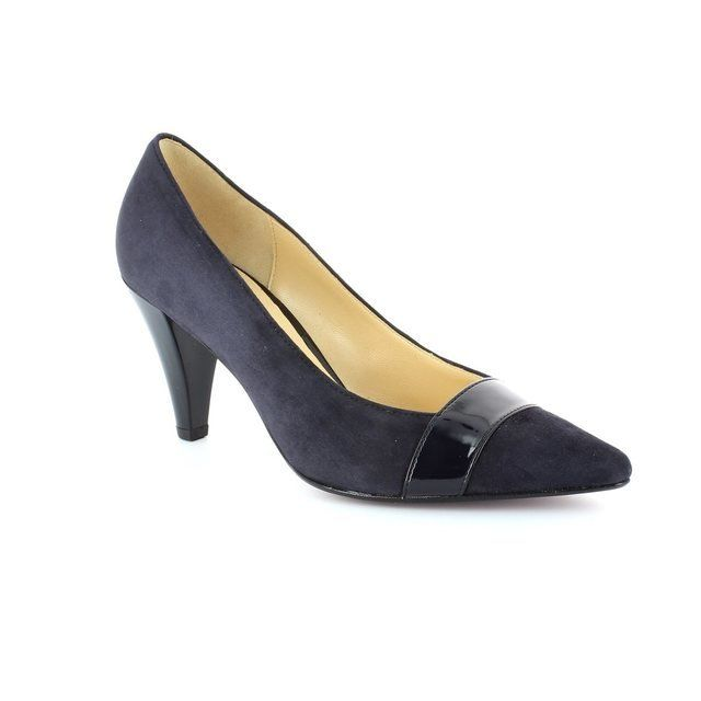 Gabor Heeled Shoes - Navy patent/suede - 41.283.16 ERSKINE 2