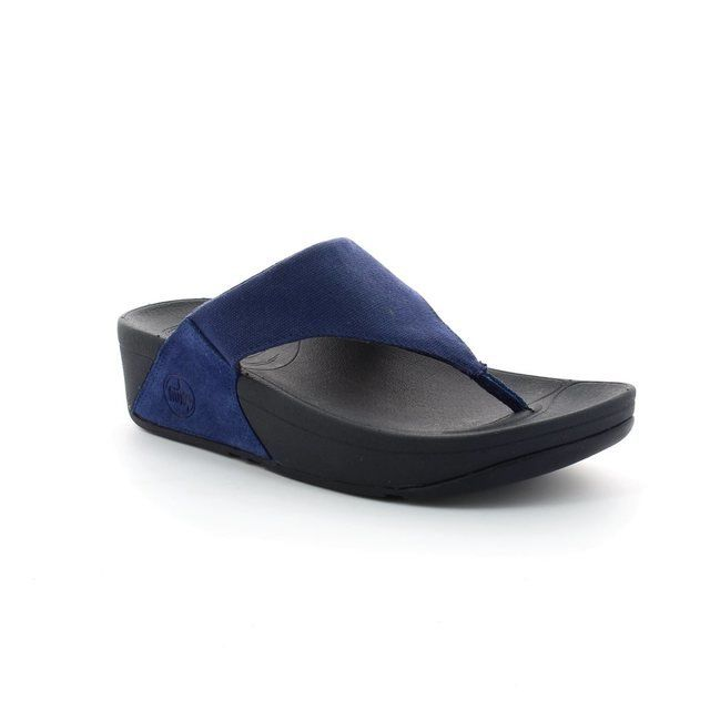 FitFlop Slippers & Mules - Navy - 101/700 LULU   CANVAS