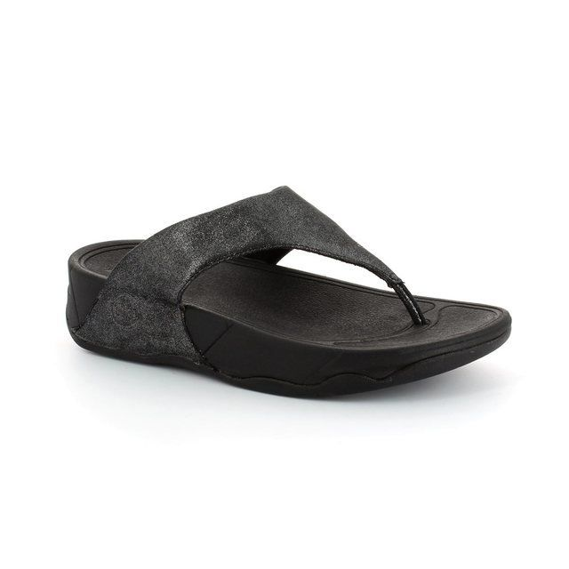 FitFlop Slippers & Mules - Black - 505/001 LULU SHIMMER