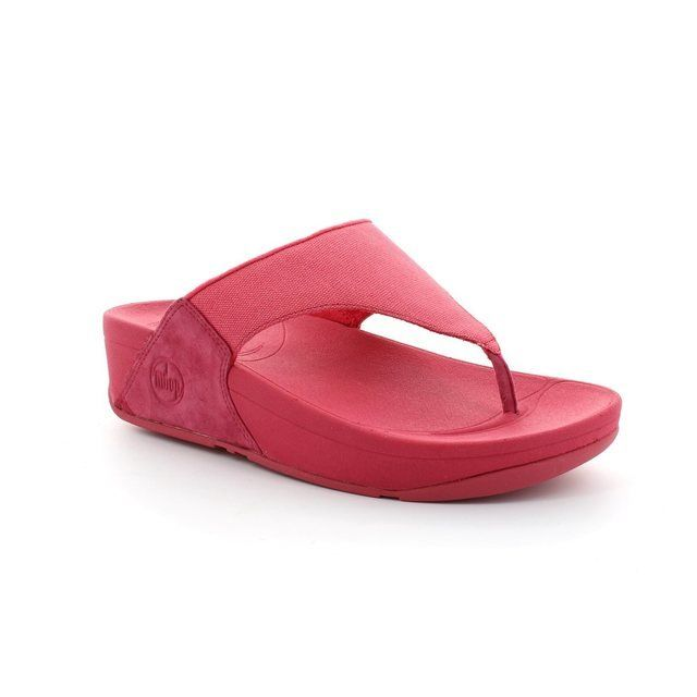 FitFlop Lulu  Canvas 101-700 Pink slipper mules