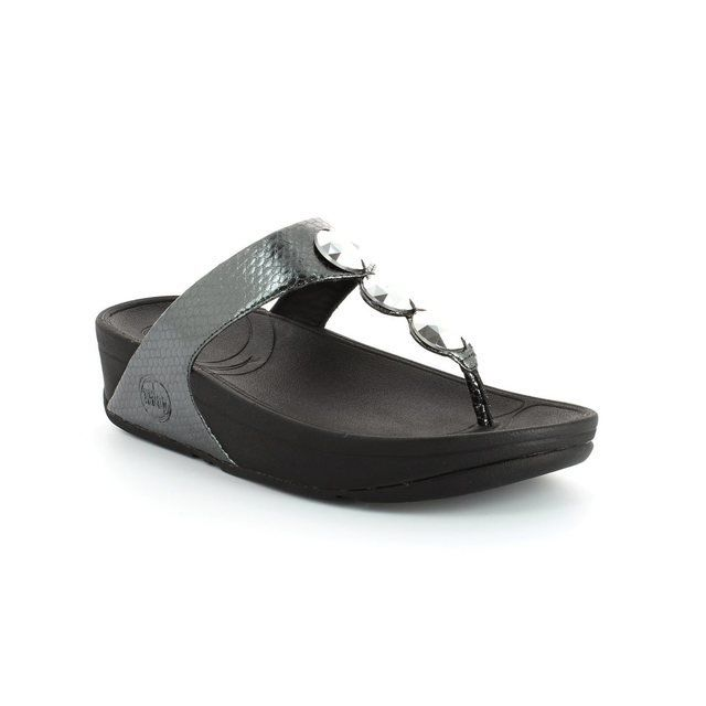 FitFlop Petra 476-054 Pewter slipper mules