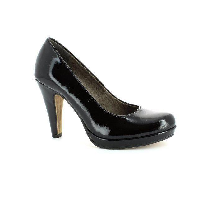 Tamaris Carradi 22426-018 Black patent high-heeled shoe