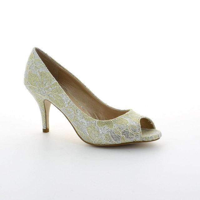Lotus Eva Gold high-heeled shoes