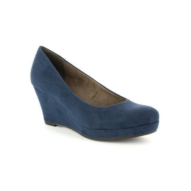 Tamaris Metis 22449-805 Navy heeled shoes