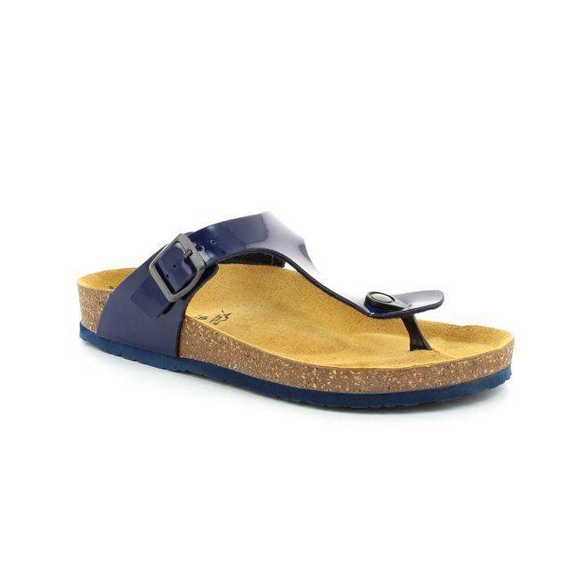 Tamaris Charlene 27106-805 Navy patent sandals