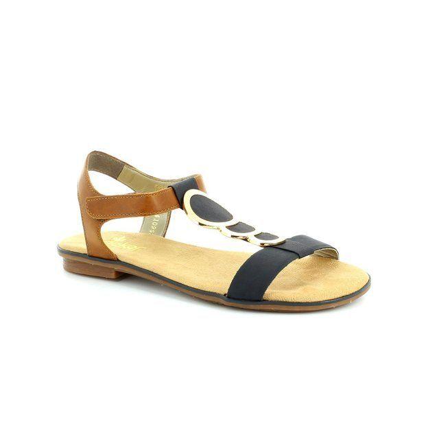 Rieker 64278-16 Navy-Tan sandals