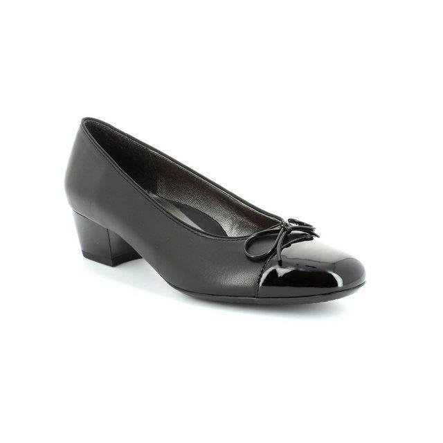 Ara Madi 1243503-15 Black patent heeled shoes