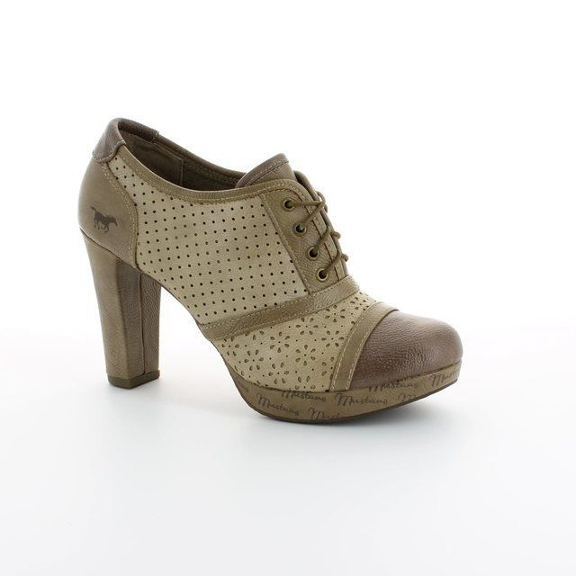 Mustang Heeled Shoes - Taupe multi - 1130206/318 DOLETANG