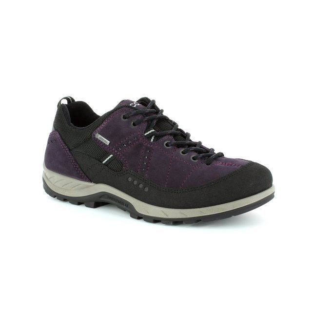 ECCO Yura Gore 840603-56343 Purple multi lacing shoes