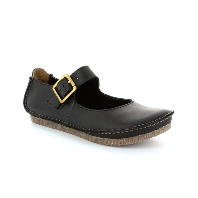 Clarks Everyday Shoes - Black - 1218/24D JANEY JUNE