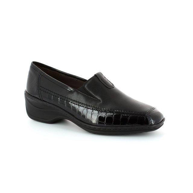Ara Regginova 12 2261114-11 Black croc comfort shoes