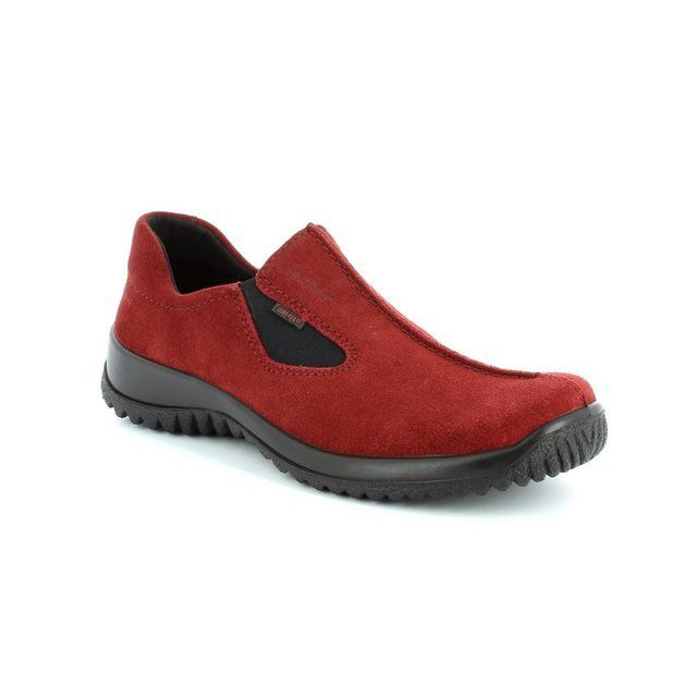 Legero Everyday Shoes - Red suede - 00568/62 SOFTSHOE GORE-TEX