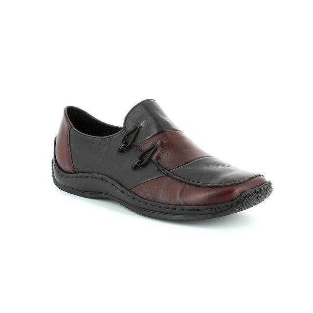 Rieker L1762-36 Black wine lacing shoes