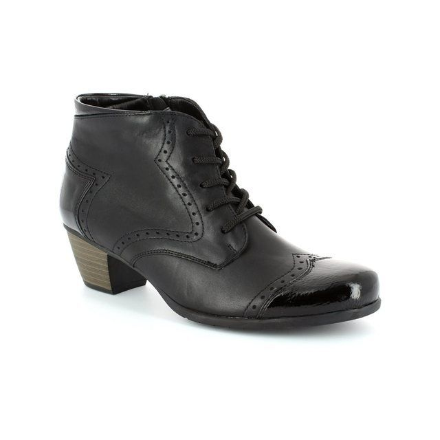 Remonte Murlace R9170-01 Black patent ankle boots