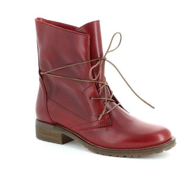 Tamaris Brit 25262-501 Red ankle boots