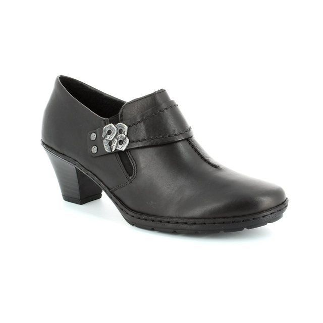 Rieker Heeled Shoes - Black - 57152-00 ADDIDISC