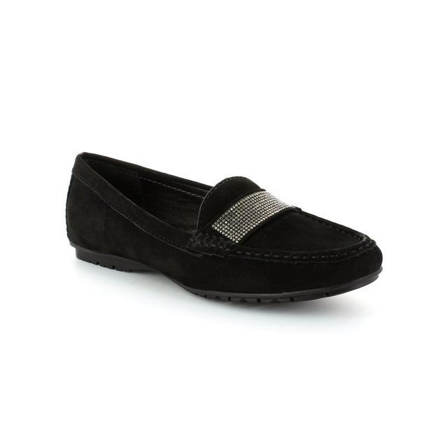 Ambition Antonia 25693-33 Black nubuck loafers