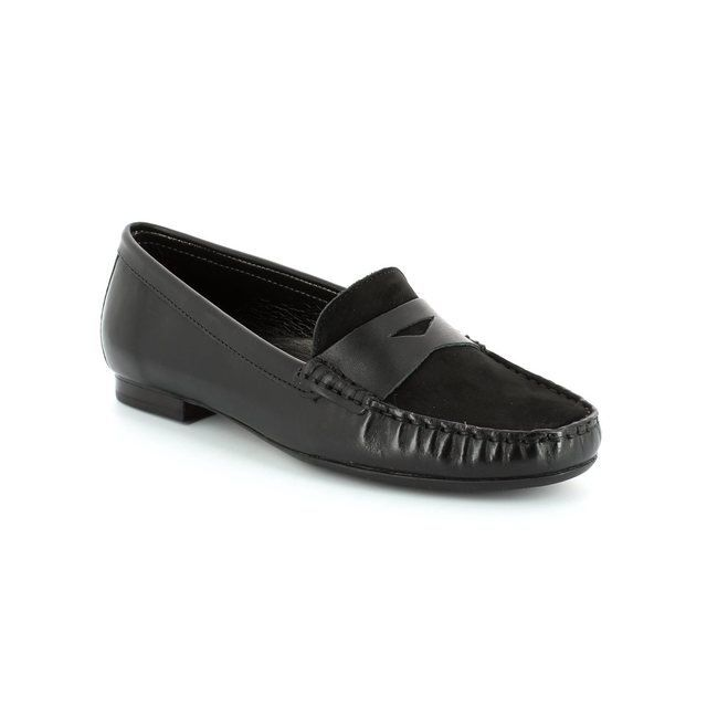 Ambition Flora 2910-23 Black loafers