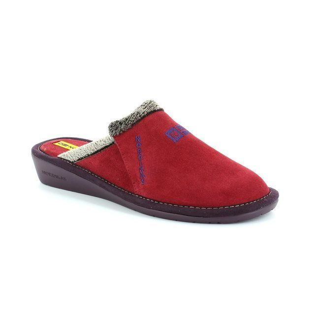 Nordikas Muvel 8132-8 Dark Red slipper mules