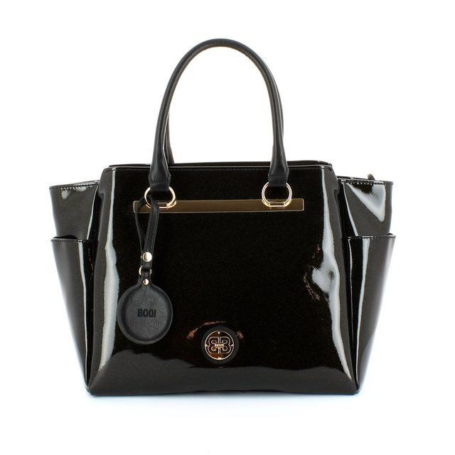 Exclusive to Begg Shoes Handbags - Black patent - 4173/14 BODRUM