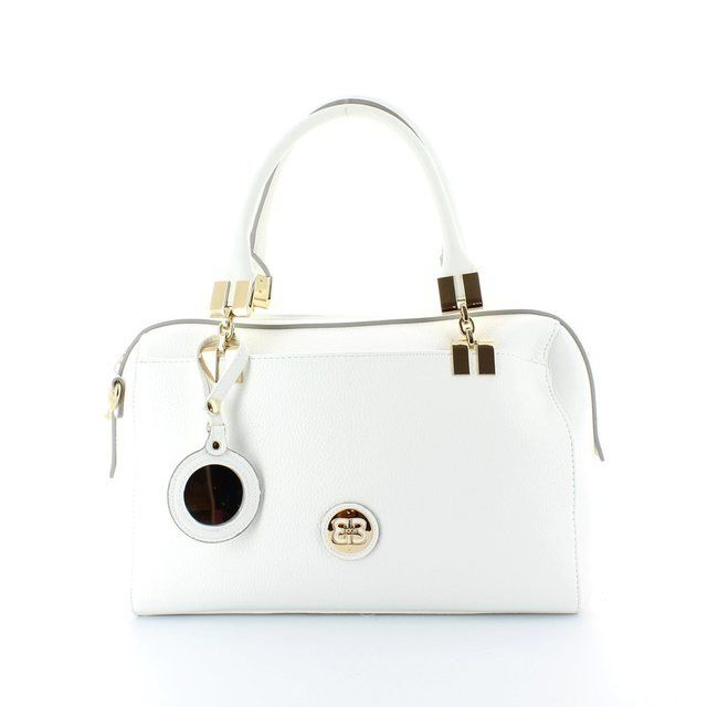 Exclusive to Begg Shoes Laura 2161-56 White handbag