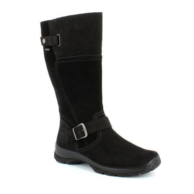 Legero Yukon 42 00546-00 Black nubuck long boots