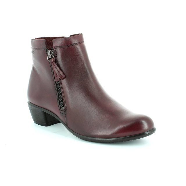 ECCO Touch35 Twinzi 264023-01237 Wine ankle boots