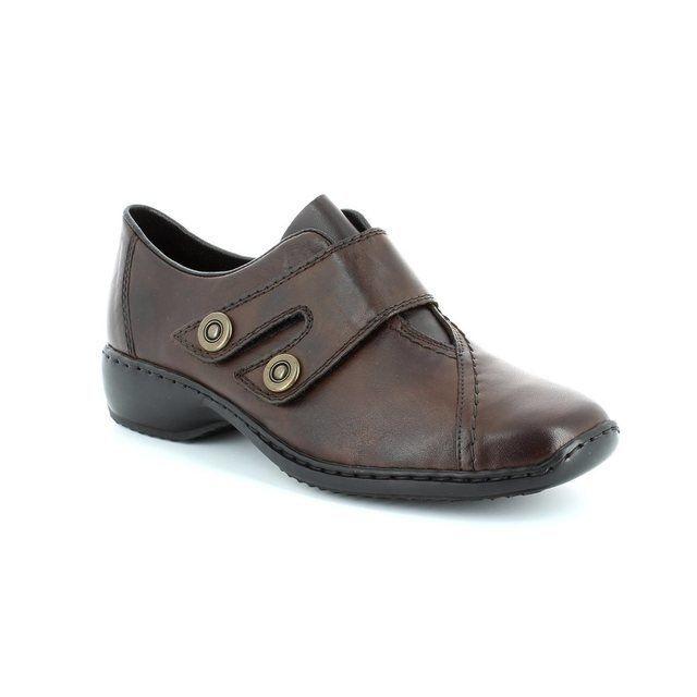 Rieker L3868-26 Brown lacing shoes
