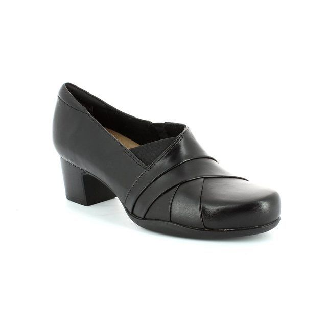 Clarks Heeled Shoes - Black - 1095/54D ROSALYN ADELE