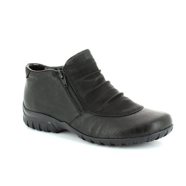 Rieker L4691-01 Black ankle boots