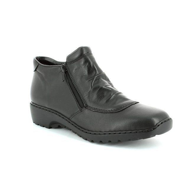 Rieker L6052-00 Black ankle boots