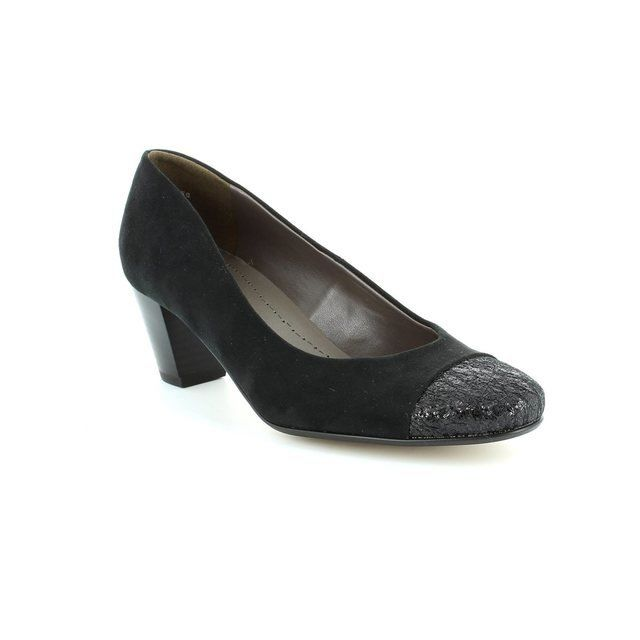 Ara Venezi 2262872-01 Black suede heeled shoes