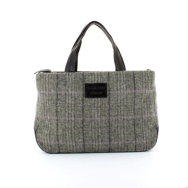 Shetland Tweed Hobo 5029-33 Black multi handbag