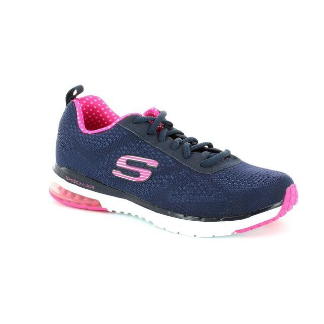 Skechers Trainers & Canvas - Navy-Pink - 12111/17 SKECHAIR INFIN 12111