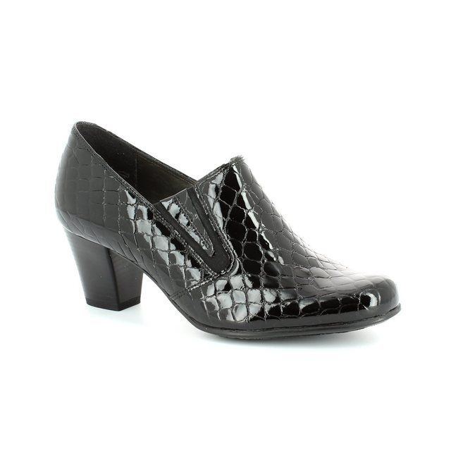 Alpina Heeled Shoes - Black croc - 8Y77/23 PAOLACROC