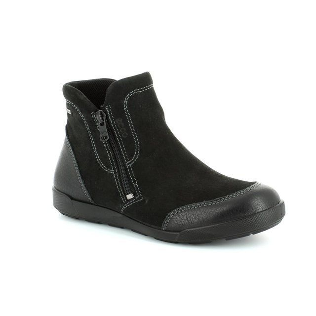 ECCO Crispboot Gore 214523-51707 Black ankle boots