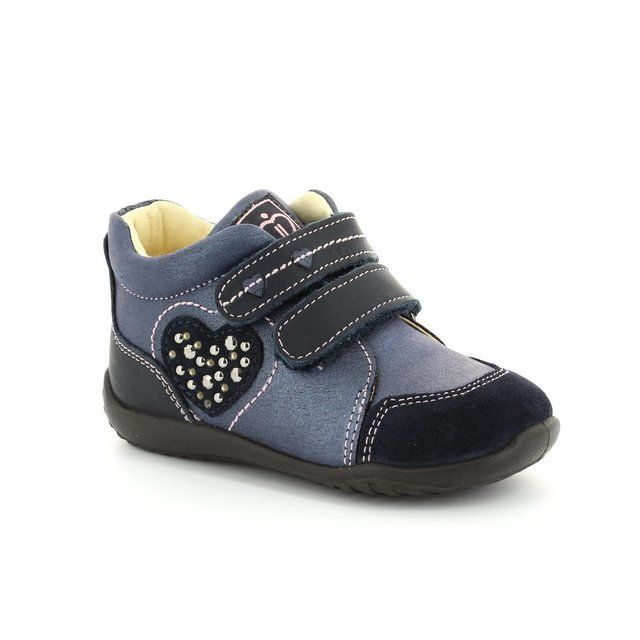 IMAC Abc Hearts 44810-1419008 Navy multi first shoes