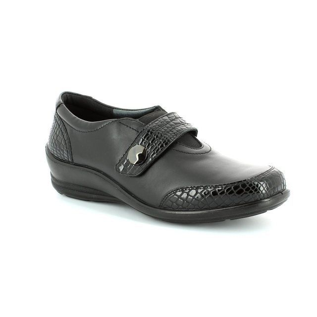 Padders Everyday Shoes - Black croc - 215/43 SARAH