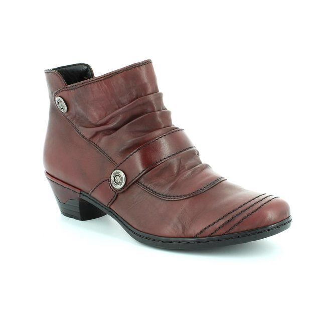 Rieker 76963-35 Wine ankle boots