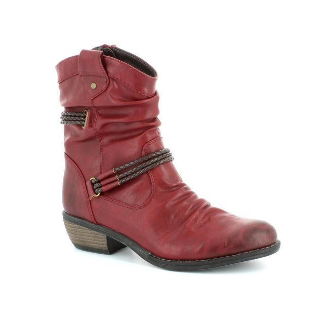Rieker 92988-35 Wine ankle boots